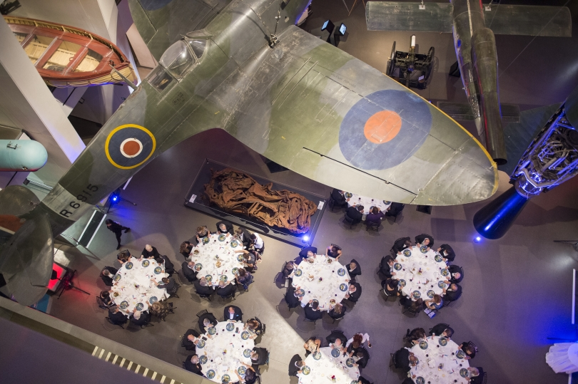 overheard photograph of IWM London Atrium for Corporate Event
