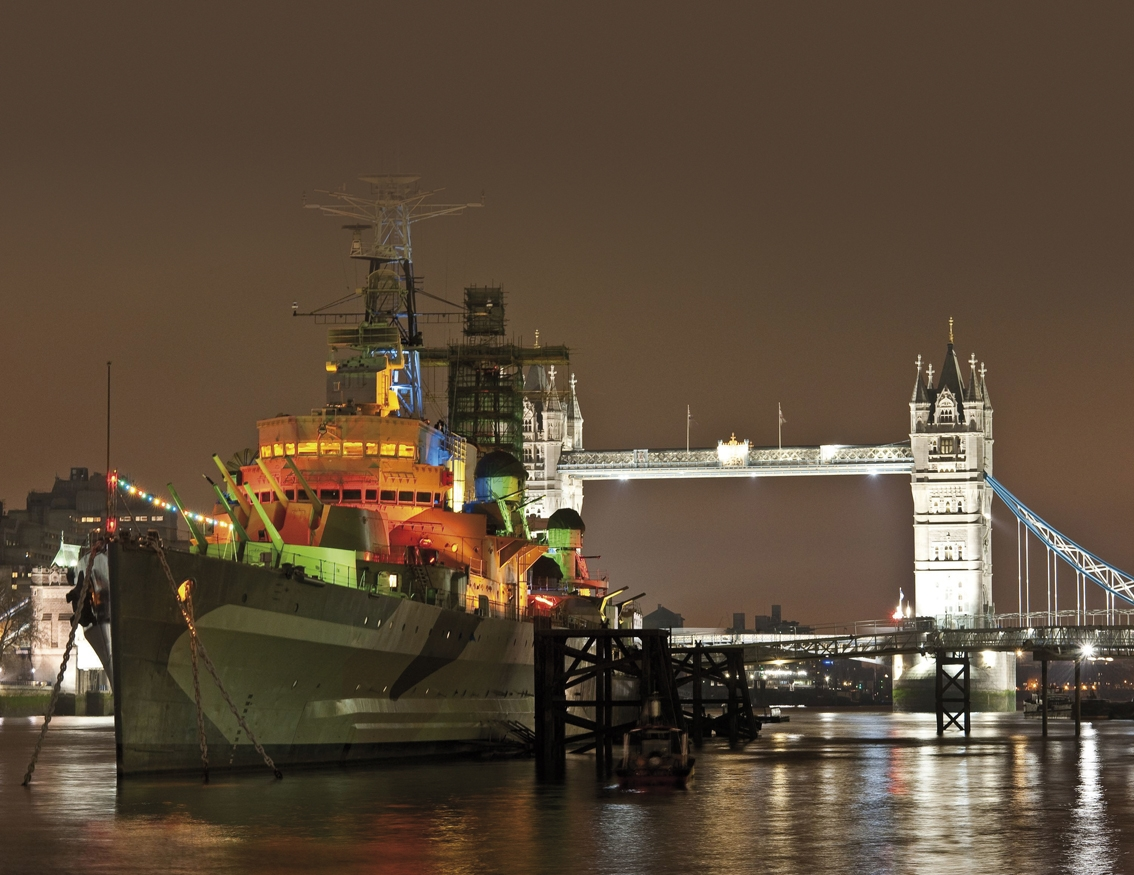 HMS Belfast at Night
