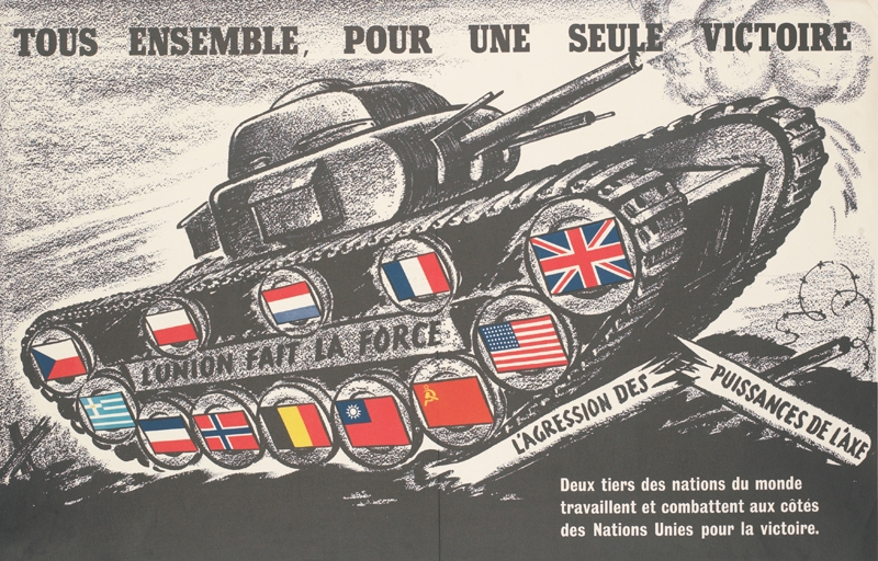 French poster. Translation reads: 'All Together, for a Single Victory'.