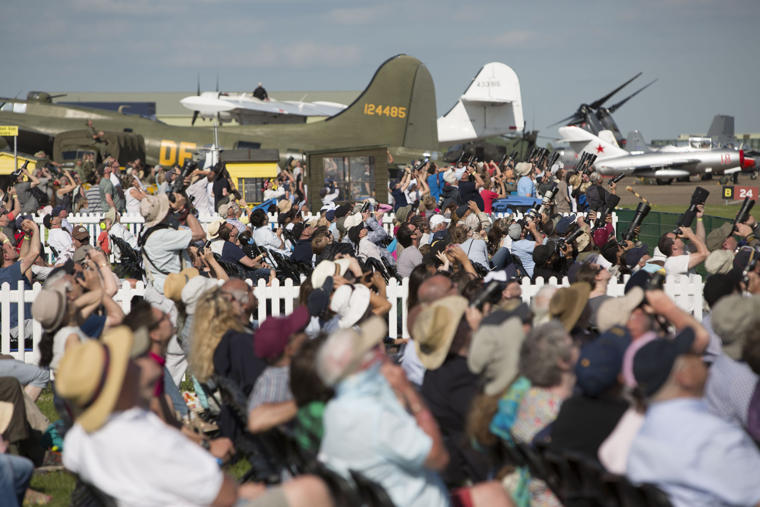 Duxford Air Show Crowd