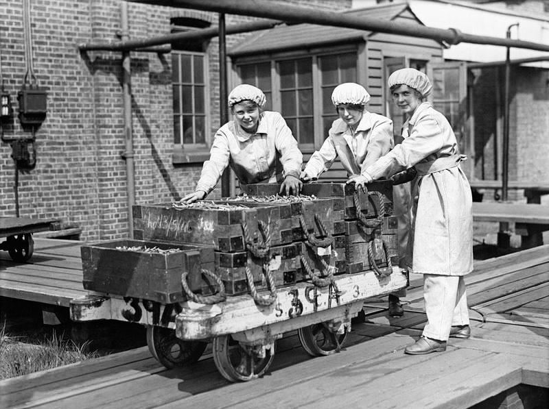 Women Working in a Munitions Factory