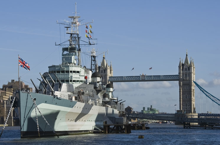 HMS Belfast on the Thames