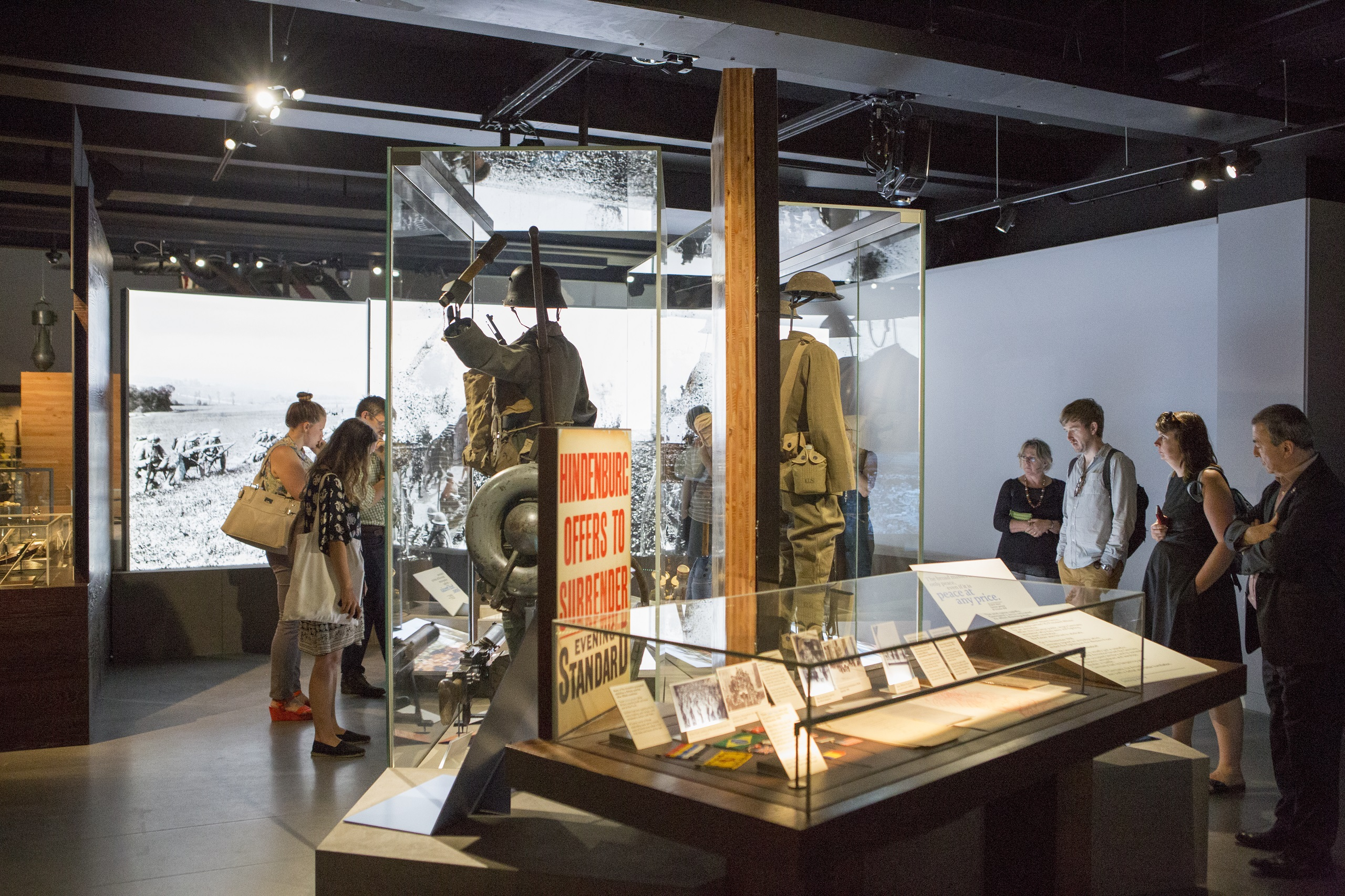 Visitor viewing the First World War Galleries
