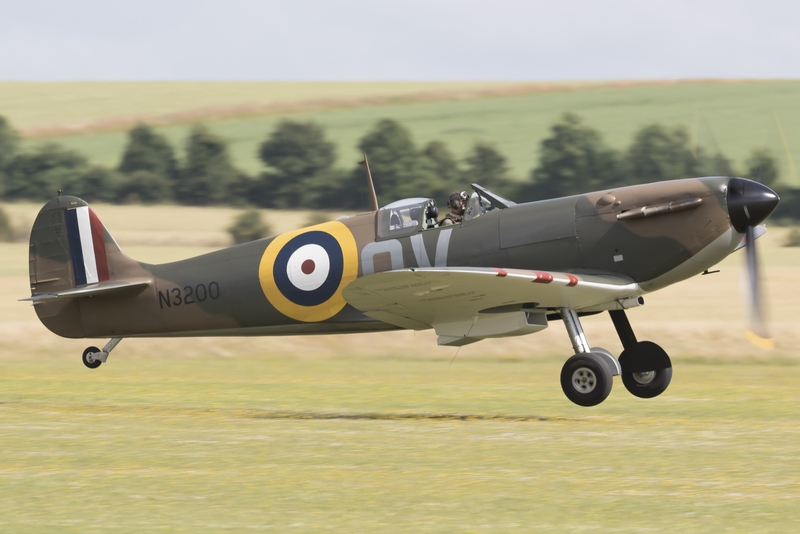 Spitrefire taking off from Duxford