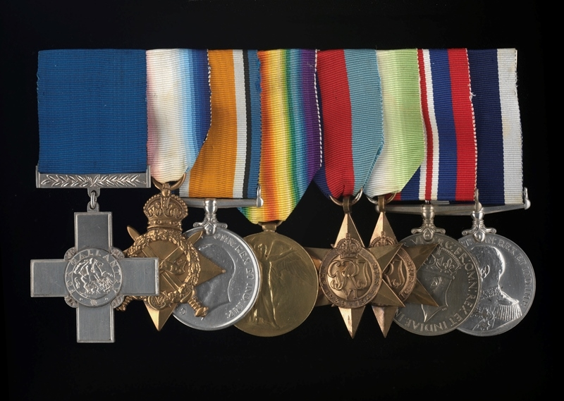 British Second World War service medal awarded to Lieutenant Commander H R Newgass GC, Royal Naval Volunteer Reserve. One of a group of 7 medals, OMD 2900-2906; for George Cross details see OMD 2900.