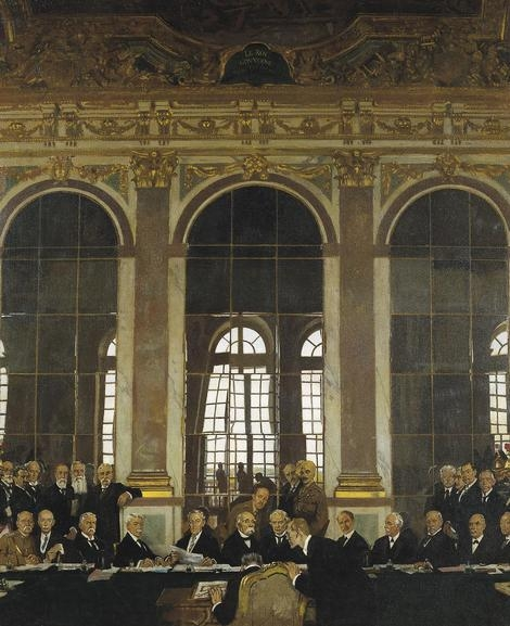 This is the moment of resolution for the Peace Conference when the leading allied politicians are able to demonstrate their determination and unity as the treaty is signed, as well their political power. The setting is the dazzling Hall of Mirrors at Versailles, built by Louis XIV, at vast expense as a demonstration of his political power.
