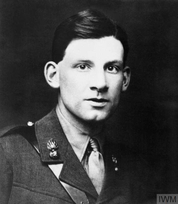 Siegfried Sassoon in uniform, whilst serving with the Royal Welch Fusiliers.