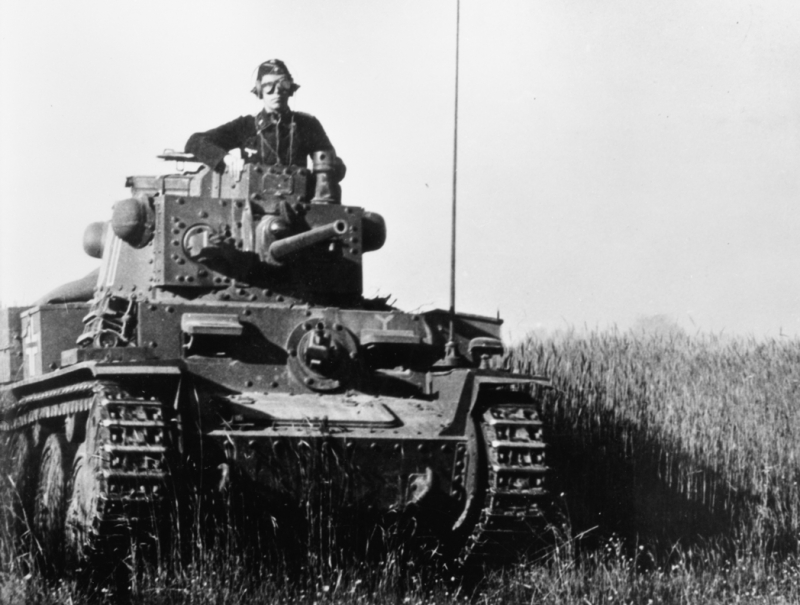 Pzkpfw 38(t) Ausf E or F of the 7th Panzer Division in Russia, 1941.