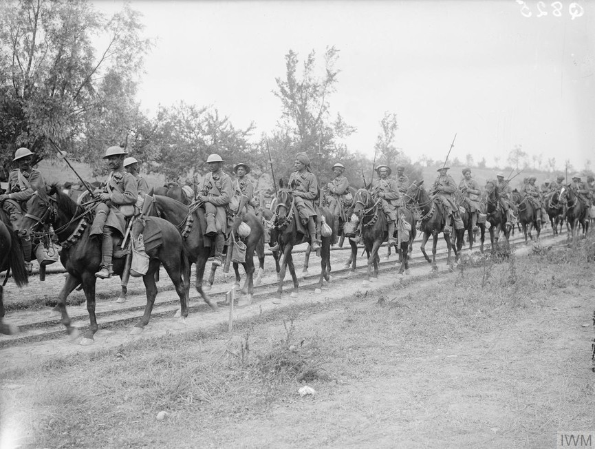 The 20th Deccan Horse, Indian Army, in Carnoy Valley, 7th Divisional Area, 14th July 1916.