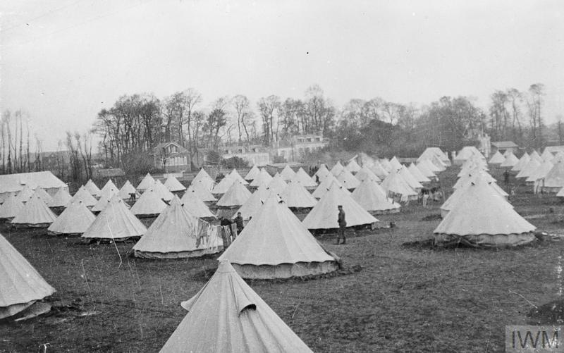 General view of the Base Camp. Le Havre, 1914.