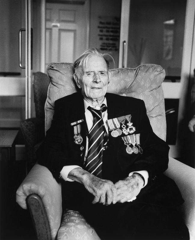 Photo of Harry Patch taken by Don McCullin © Crown copyright.