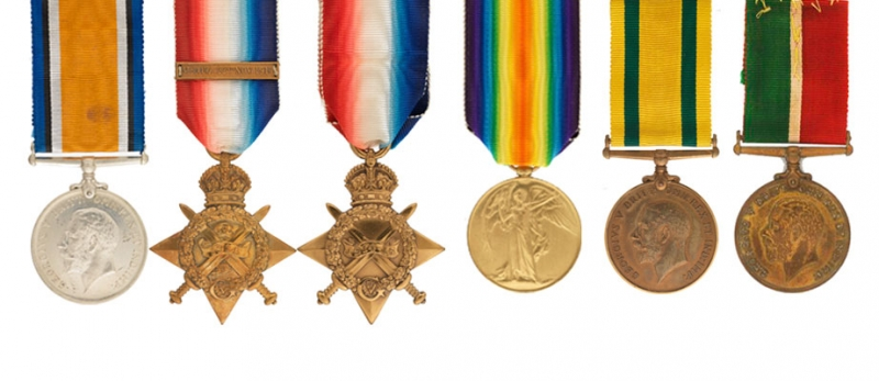 British First World War Service Medals.