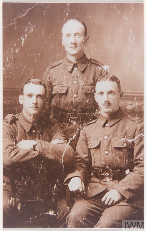 a photograph showing Albert Tattersall with his two brothers John and Norman, all in military uniform.