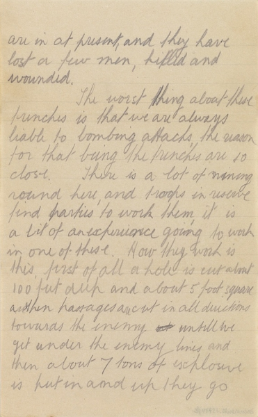 Letter from Albert Tattersall (Page 2).