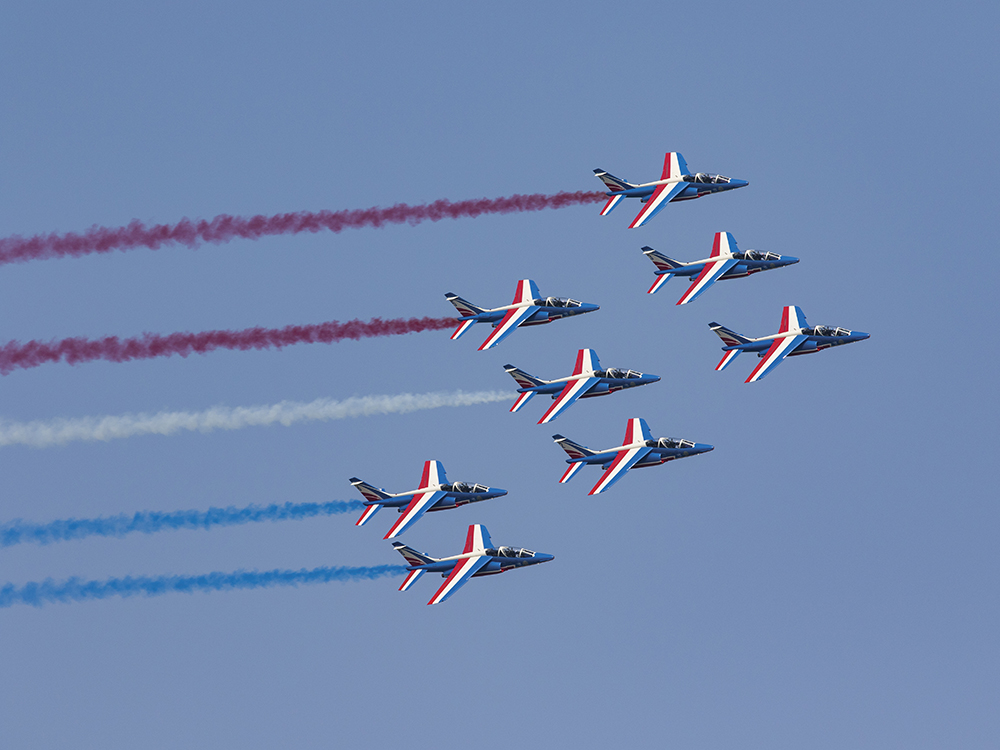 Patrouille de France at Duxford Air Festival