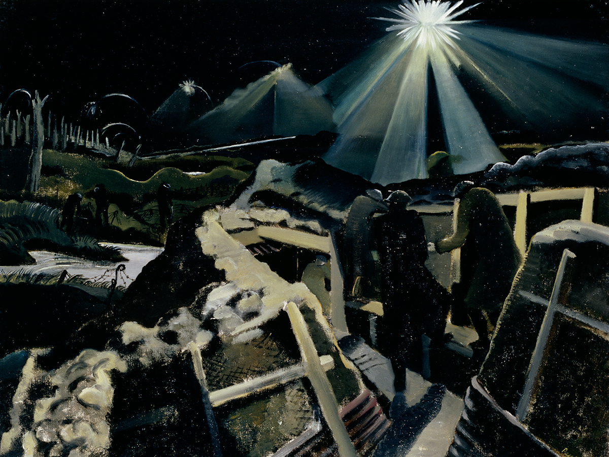 Paul Nash's painting The Ypres Salient at Night