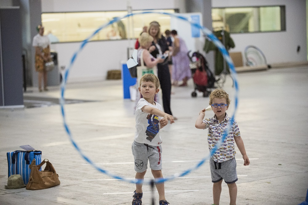 Children taking part in Flight Academy at IWM Duxford