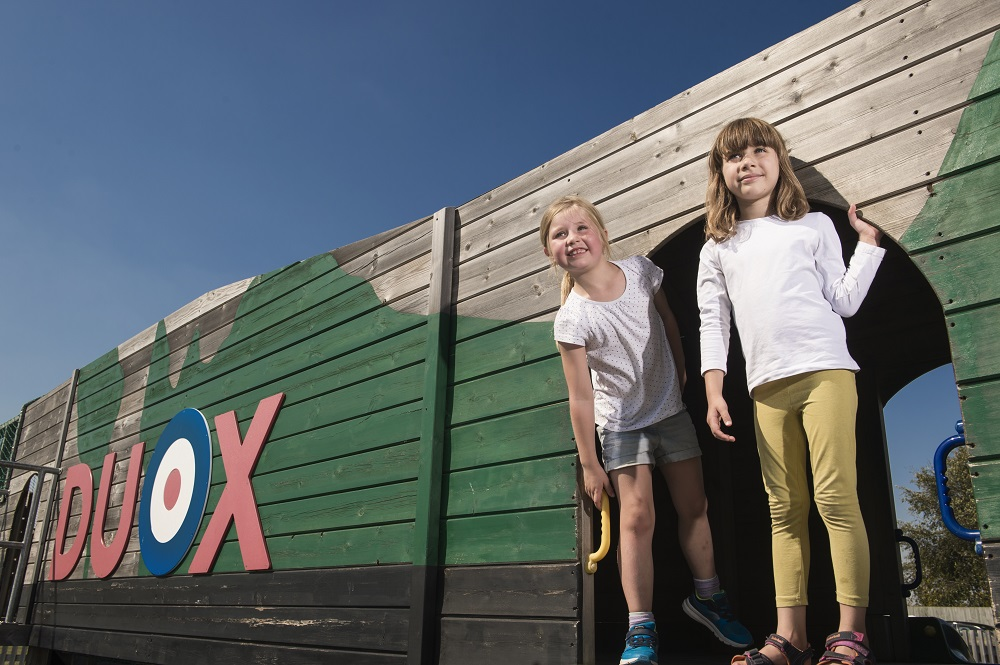 Children in the play area at IWM Duxford