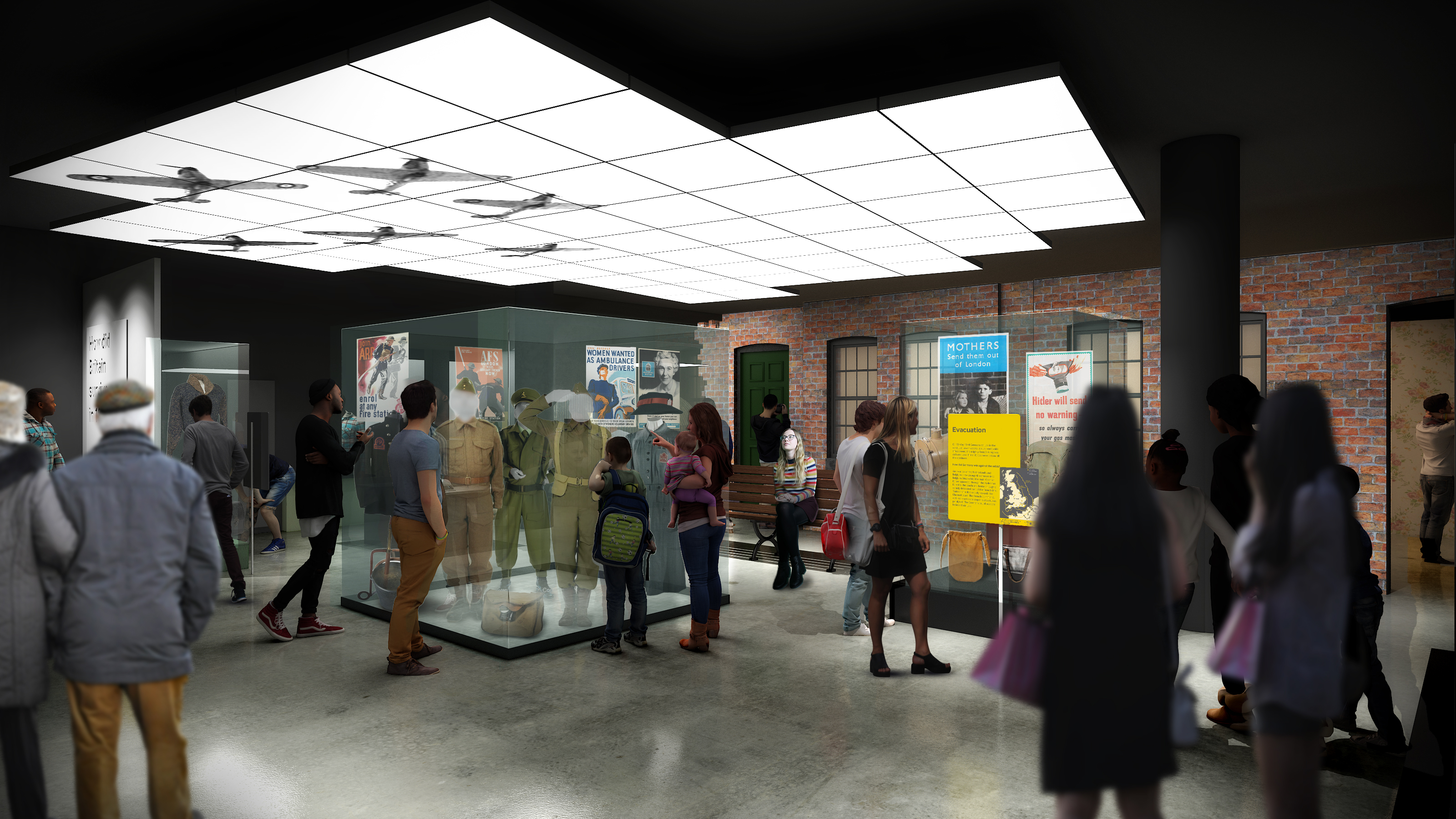 IWM concept image of new Holocaust and Second World War galleries