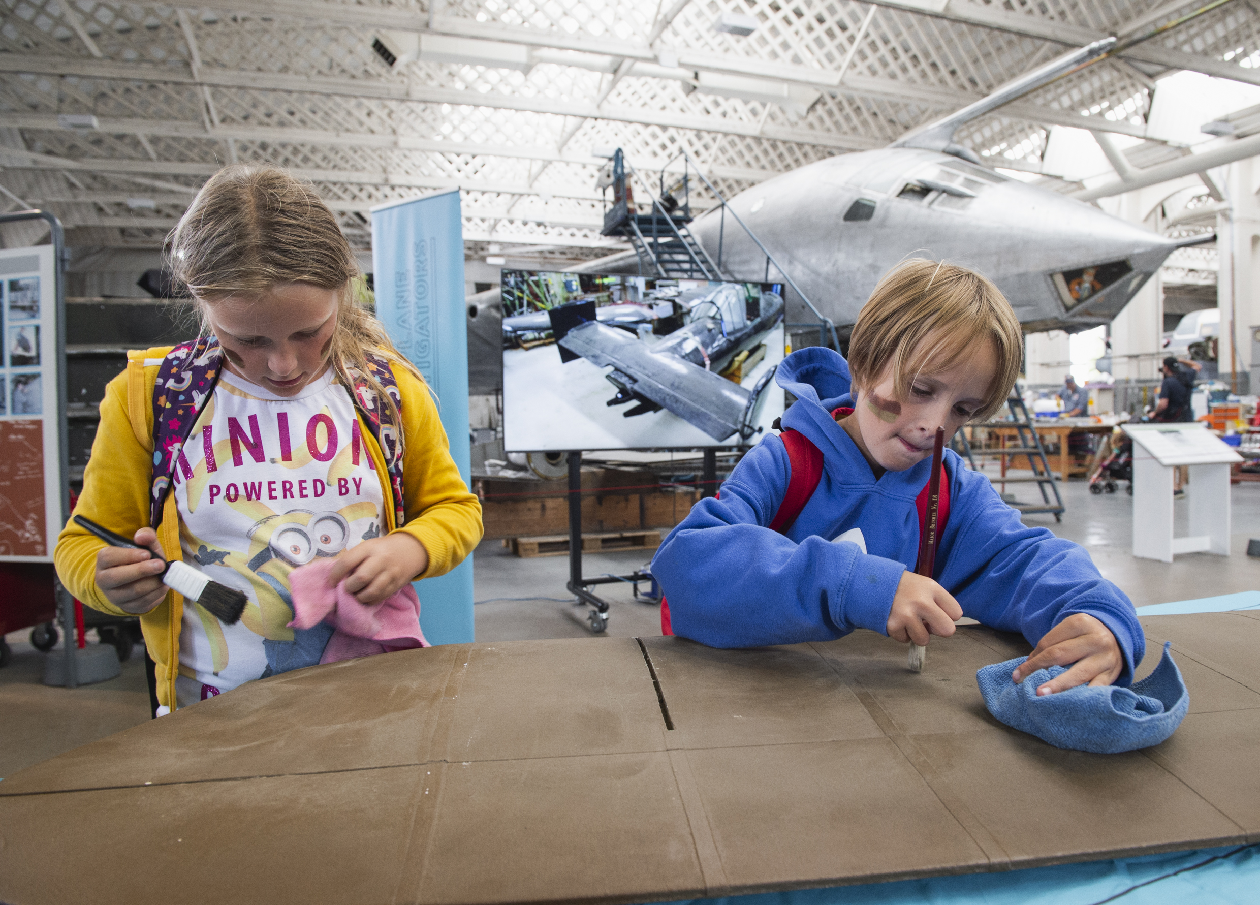 Children taking part in Aeroplane Investigators
