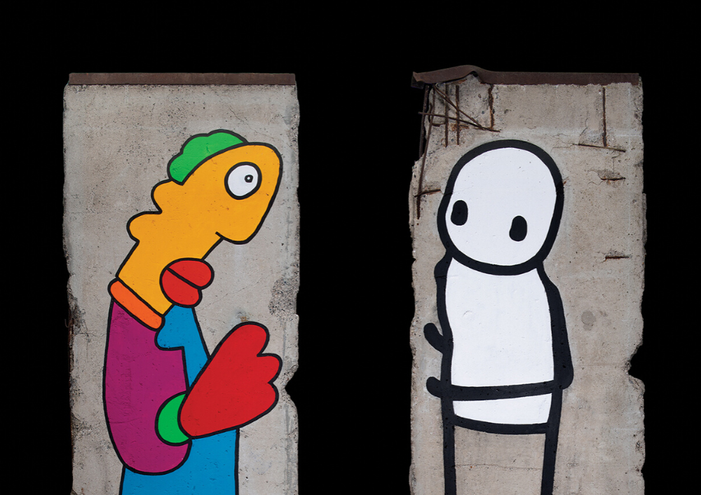 WALL, 2019 by Thierry Noir and STIK