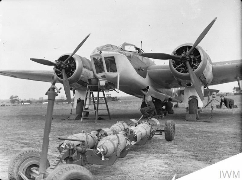 Black and white photograph Bristol Blenheim light bomber Imperial War Museum Duxford