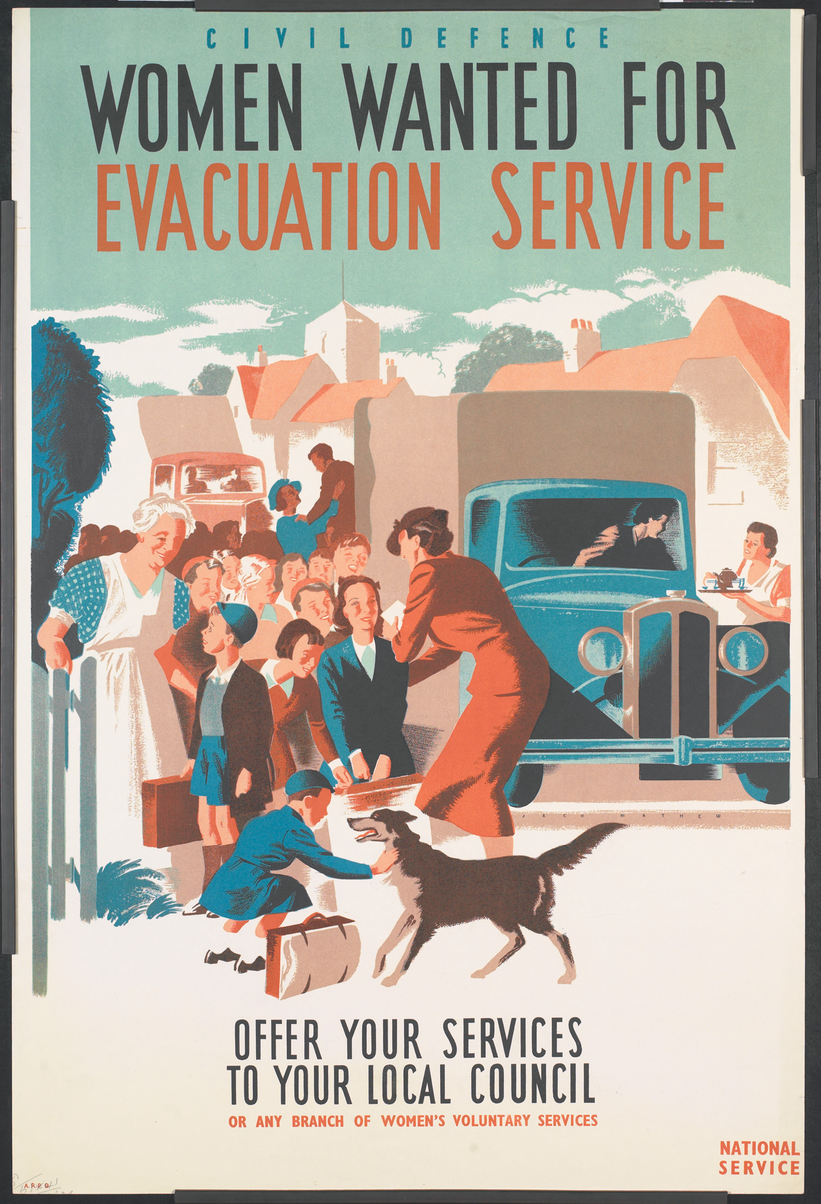 Women Wanted for Evacuation Service poster © IWM (Art.IWM PST 15092)