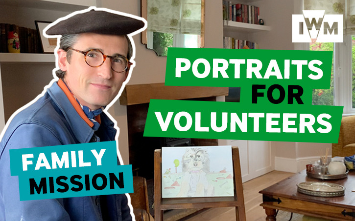 Poster image for IWM's Family Mission: Portraits for Volunteers