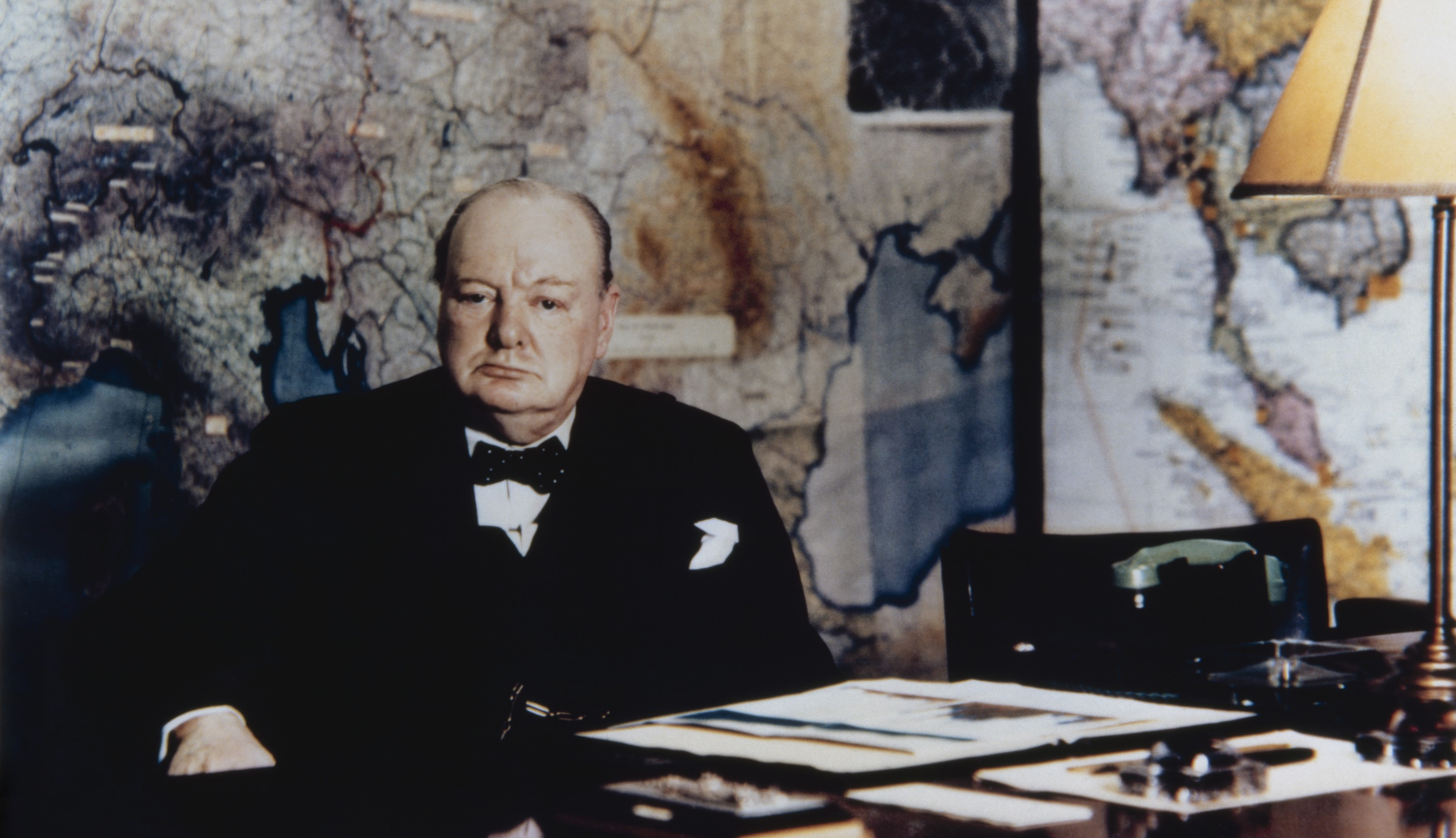 Churchill sitting