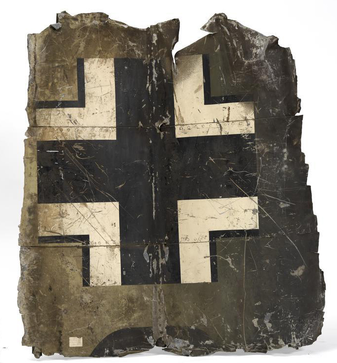 Panel cut from the wreckage of Hess' aircraft.