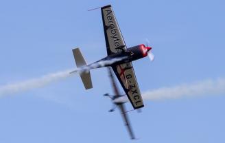 The Blades display team at Duxford Air Festival