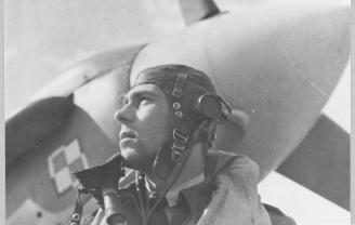Flight Sergeant Mieczysław Popek of No. 303 Polish Fighter Squadron