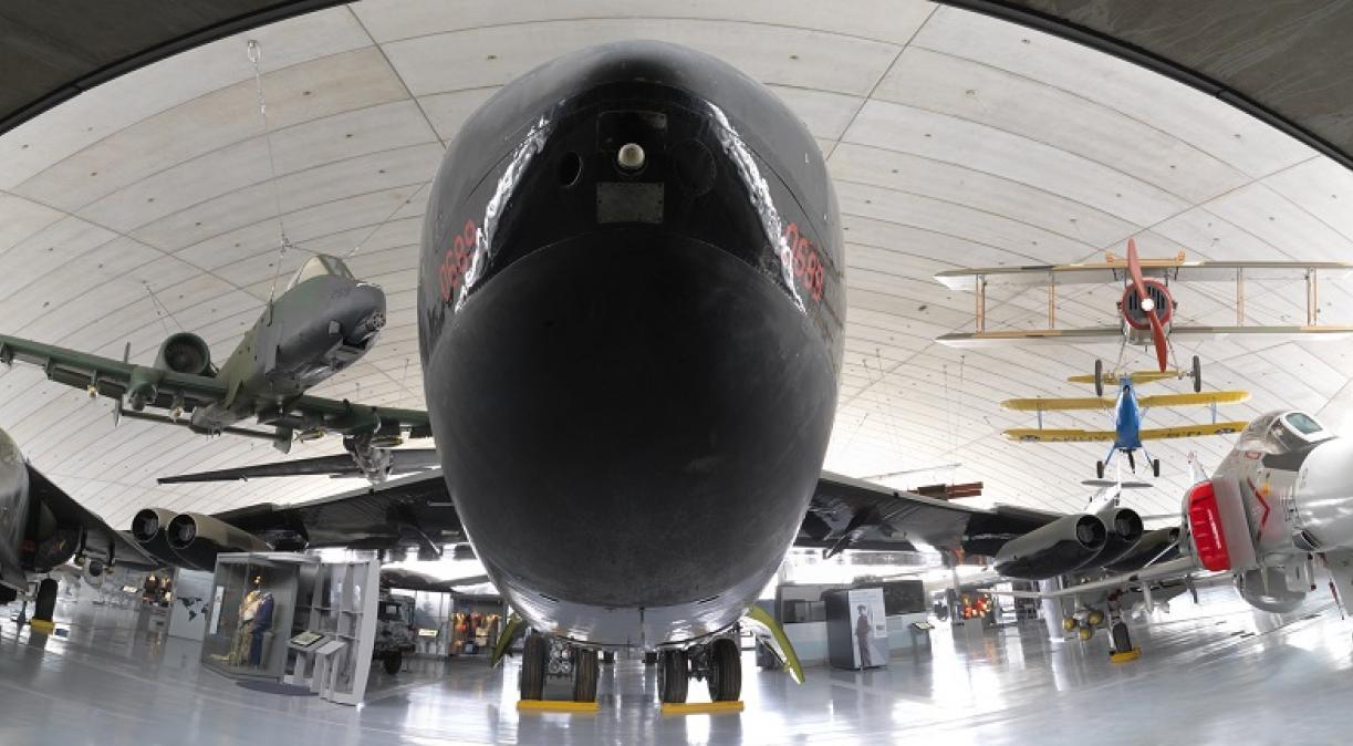 B-52 inside the American Air Museum