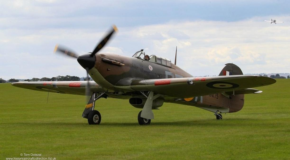 Hurricane parked on the grass
