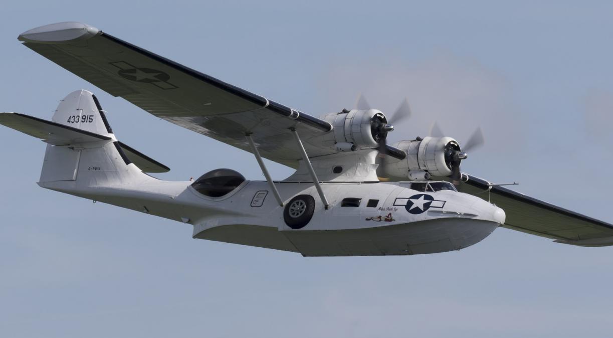 Catalina in flight