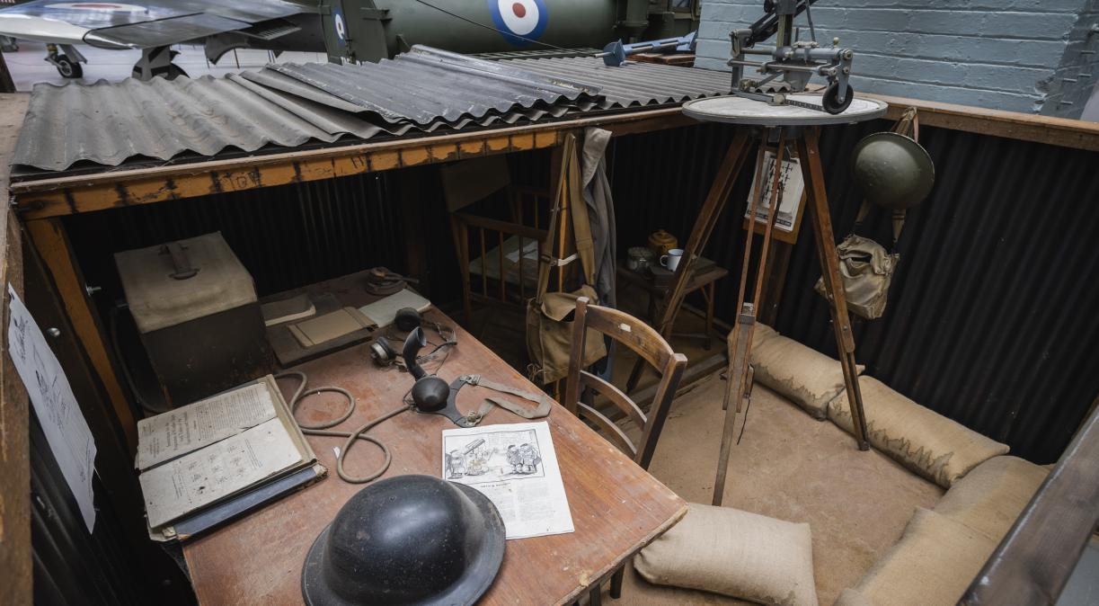 Observer Corps Post in Battle of Britain exhibition at IWM Duxford