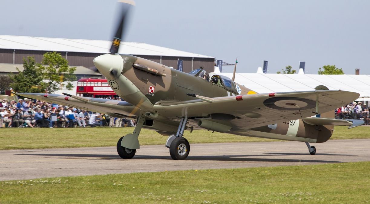 Spitfire at Duxford Air Show