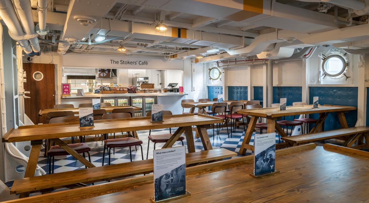 The Stokers' Café on board HMS Belfast