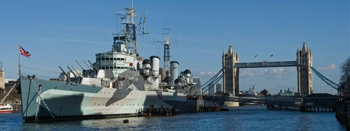 HMS Belfast with Tower Bridge in the background