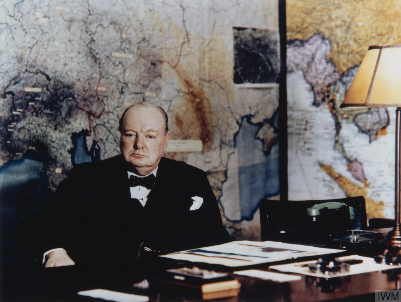 Photograph of Churchill In the War Room