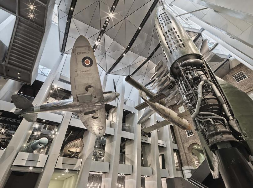 Upward facing shot of IWM Atrium