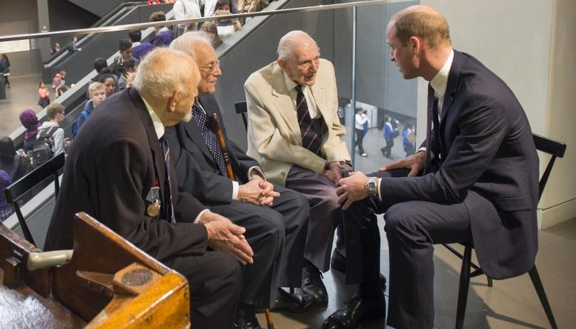 Veterans sit with Duke of Wales at IWM London