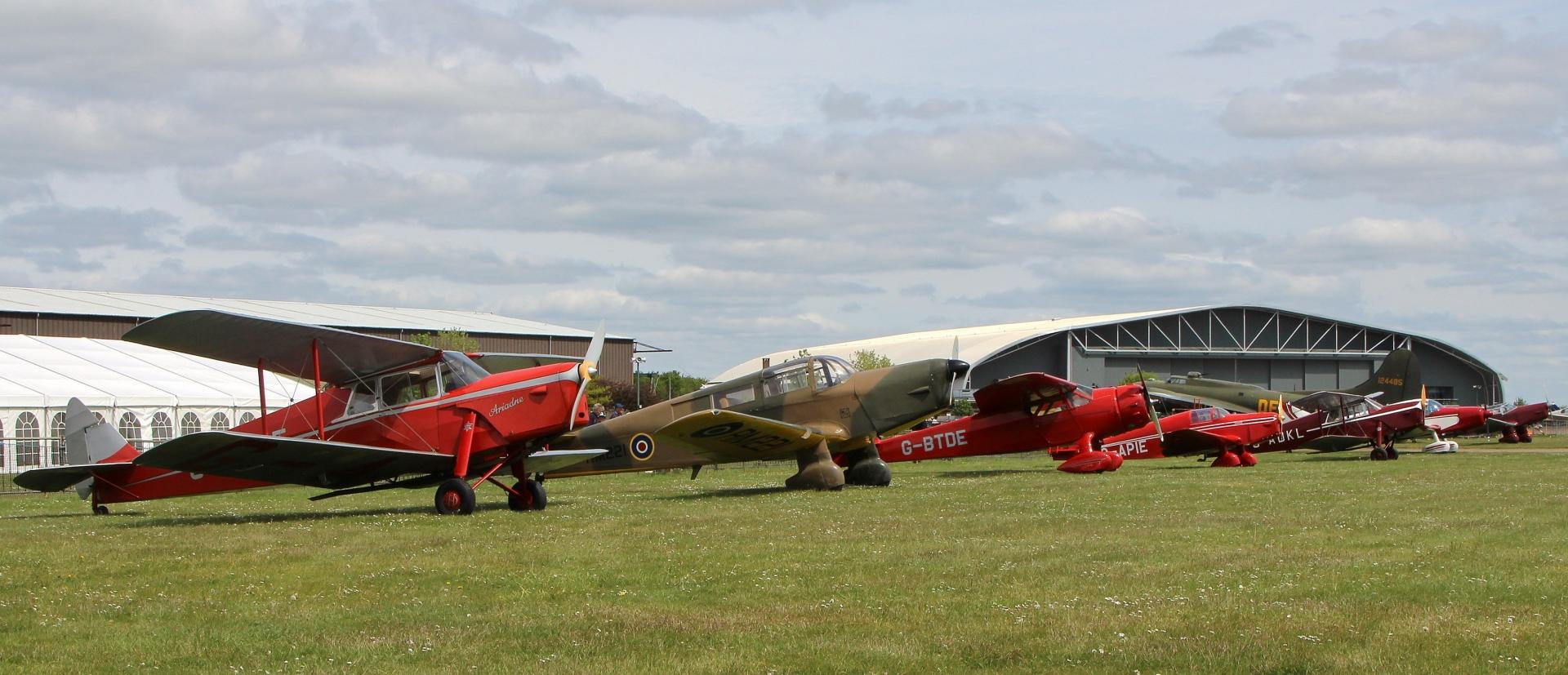 Lineup of GA aircraft at IWM Duxford
