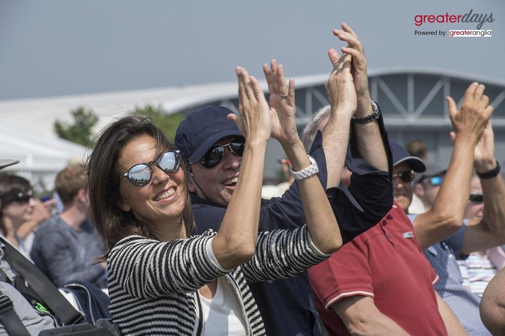 Cheering crowd at Duxford AIr Shows
