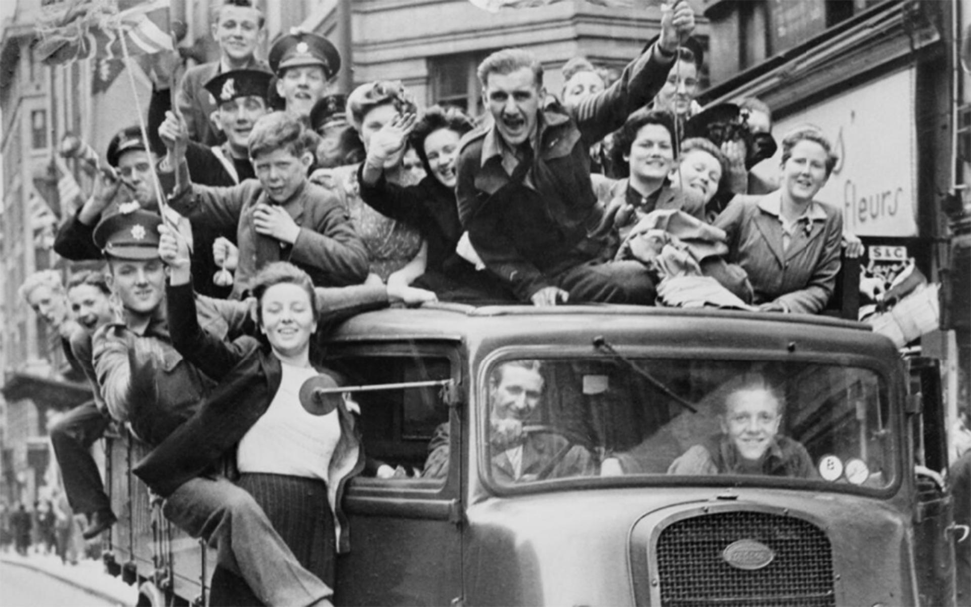 VE Day celebrations in London on 8 May 1945