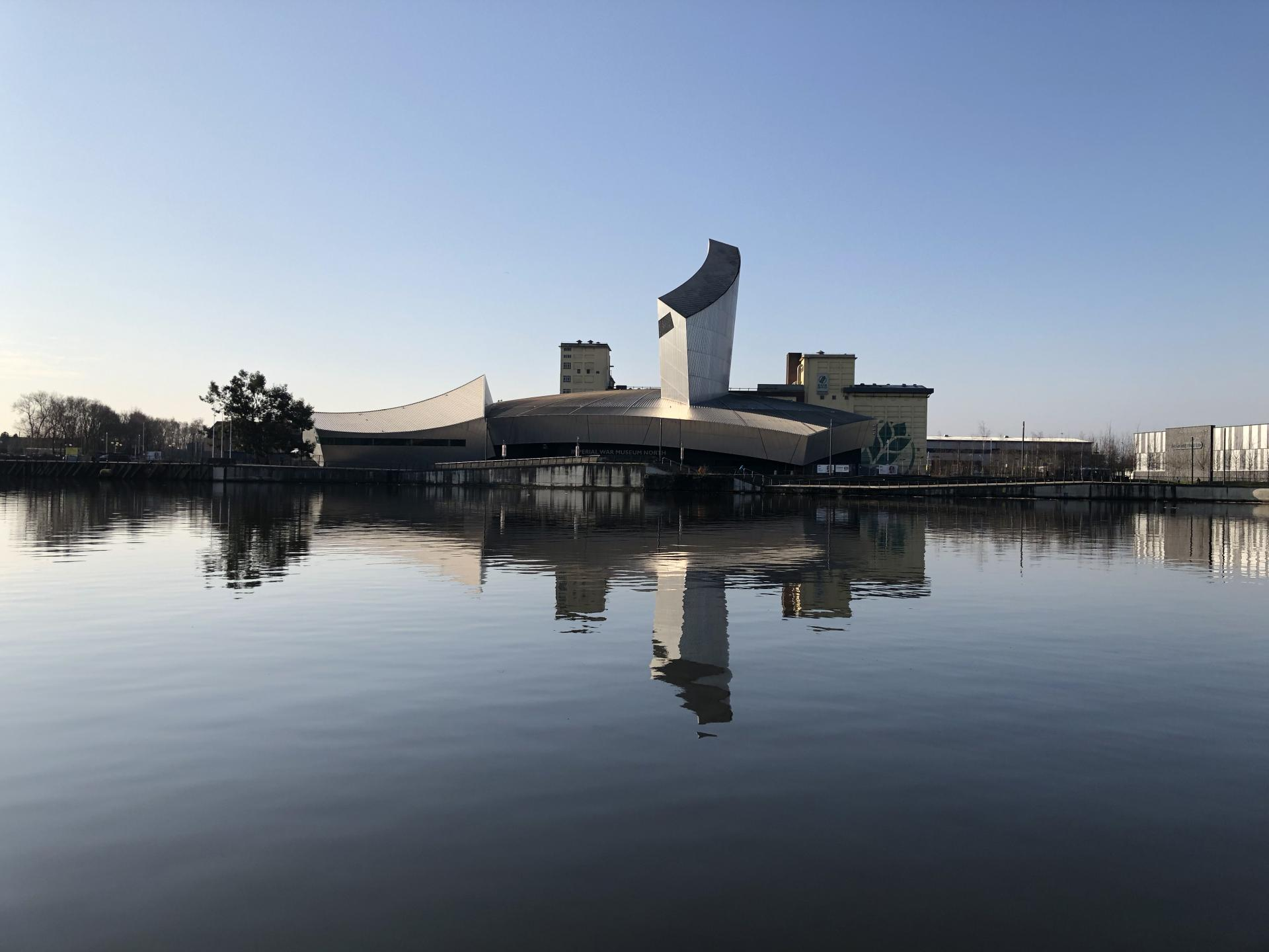 IWM North reflected in the river