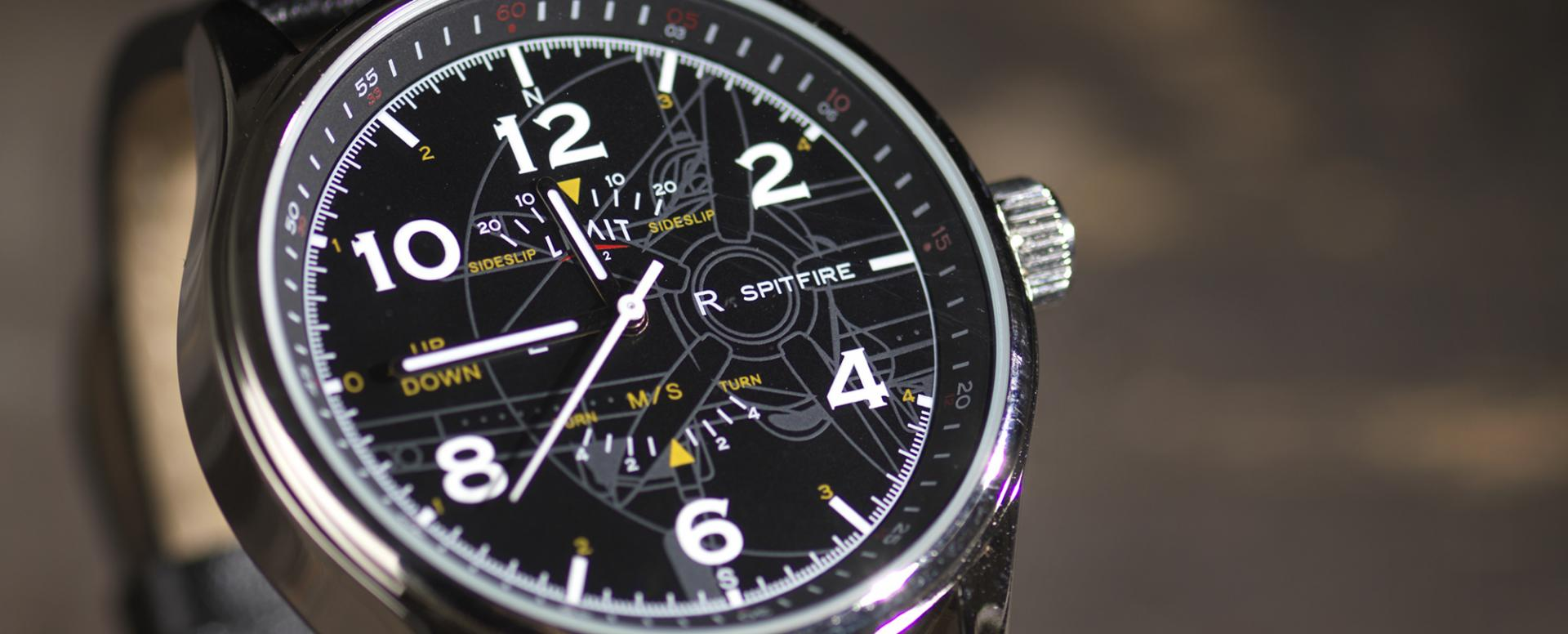 A watch design inspired by the Spitfire
