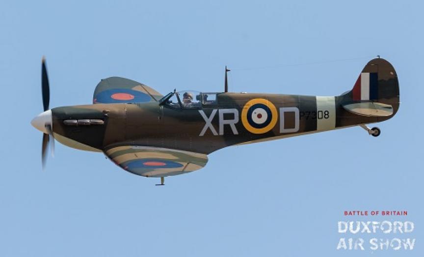 Spitfire Mk.1 AR213 at Duxford Air Shows