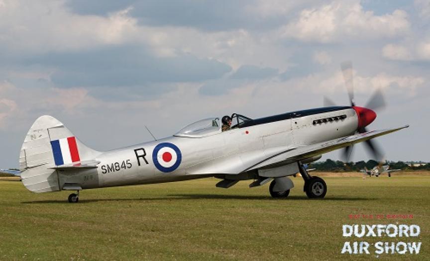 Spitfire Mk.XVII SM845 at Duxford Air Shows