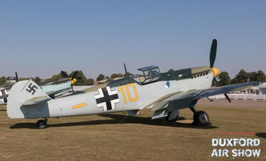 Hispano Buchon Yellow 10 at Duxford Air Shows